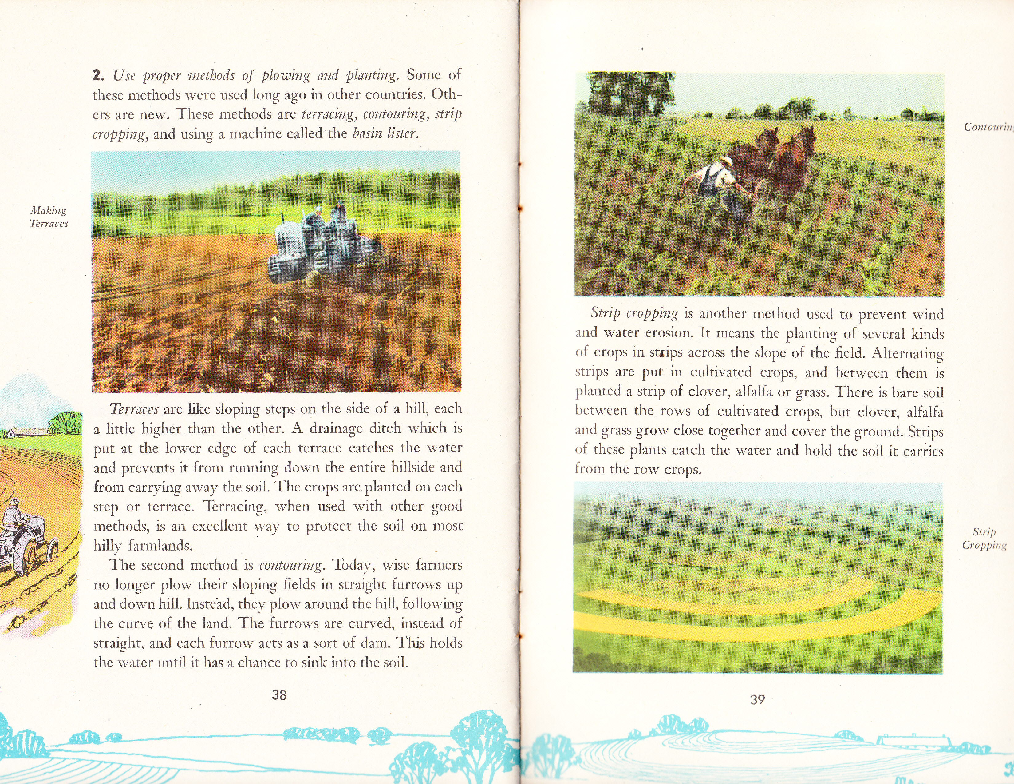 Vintage school book teaches kids about soil for Uses of soil for kids