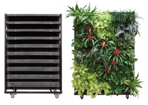 Green living technologies for vertical gardens.