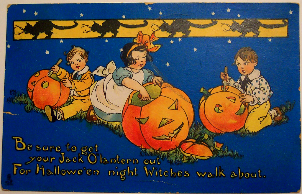 old fashioned halloween card - Old Fashion Halloween