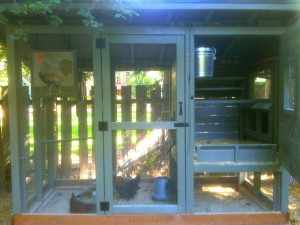 chicken coop built by owner