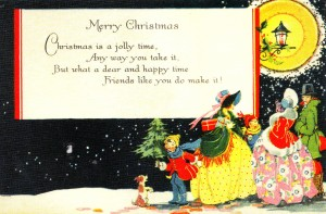 vintage christmas card from 1920s