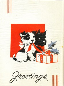 charming vintage christmas cards from 1930s with dogs