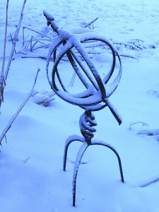 garden accessory in winter