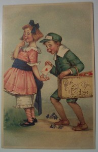 old style valentines day card