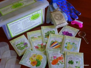 heirloom seeds, seed kit, tools, manure teas