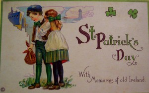 old-fashioned st. patricks day greeting card