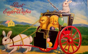 old easter greeting card