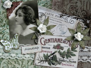 vintage images of woman and plants, enjoy Mother Nature on summer solstice