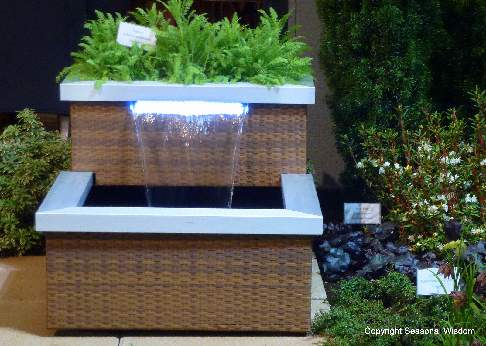 Contemporary Backyard Fountains : Naturally, ?his? fountain is more modern and streamlined ( We are