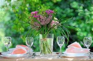 Food recipes and gardening tips to help you recreate this pretty table scene outdoors with flowers