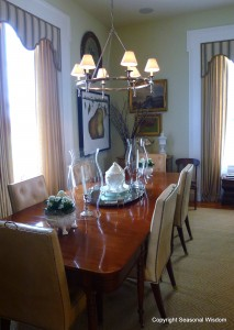 Elegant dining room at P. Allen Smith's house.