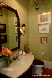 Guest bathroom at P. Allen Smith's home