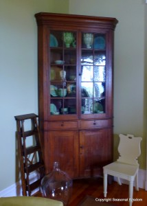 18th century cabinet in P. Allen Smith's home.
