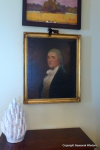 Old painting by Gilbert Stuart in P. Allen Smith's home.