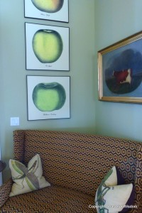 Contemporary couch and artwork in P Allen Smith's home.