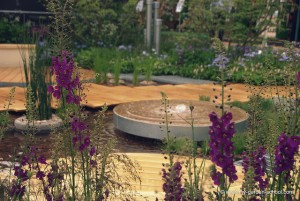 Fountains shaped as circles at 2013 Chelsea Flower Show