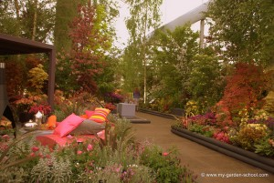 Pleasant place to sit at 2013 Chelsea Flower Show