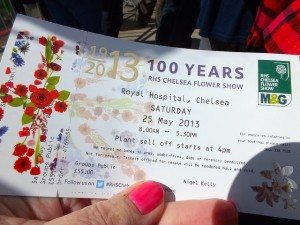 A ticket to 2013 Chelsea Flower Show