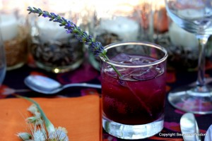 Edible Flowers like lavender are great in drinks.