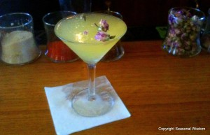 Try edible flowers like roses in mixed drinks too.