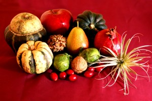 Ingredients for seasonal tablescape