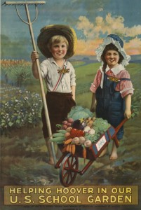 Helping Hoover in our United States School Garden Army Poster