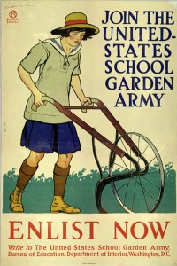 United States School Garden Army Poster by Edward Penfield, circa 1917