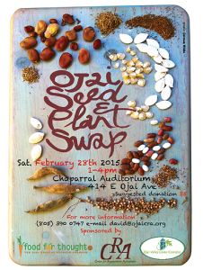 Seed swap flyer in ojai, california