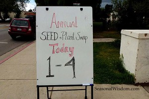 Seed Swap sign