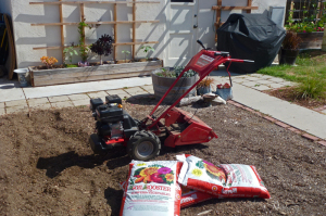 Troy-Bilt Bronco Axis Rototiller and soil booster