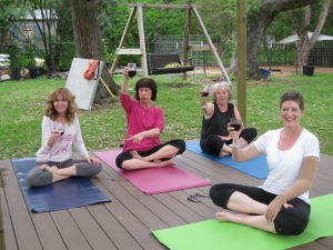 Yoga garden in the Cancer Survivor's garden companion