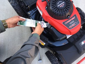 motor oil in troy bilt lawn mower